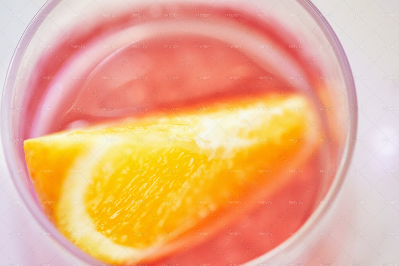 Negroni With A Slice: Stock Photos