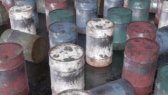Rusty Metal Barrels: Motion Graphics