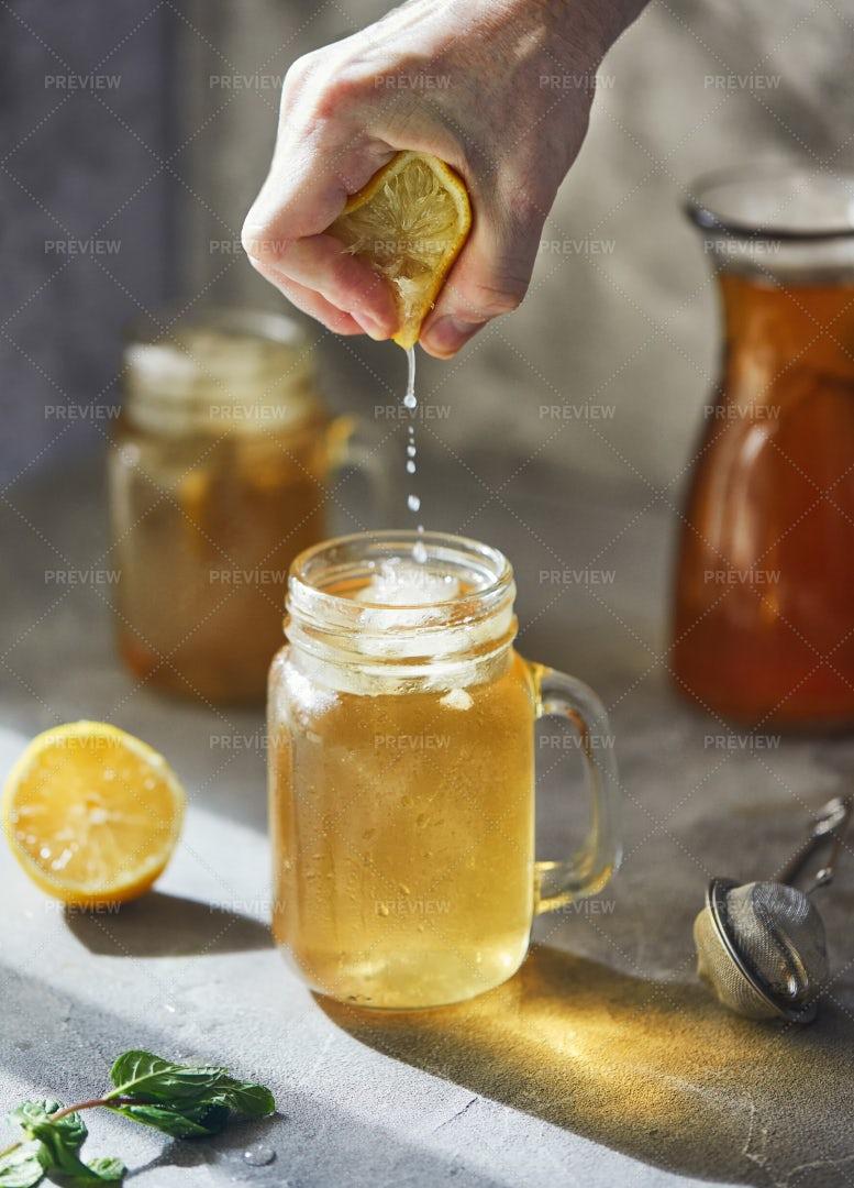 Lemon For Iced Tea: Stock Photos