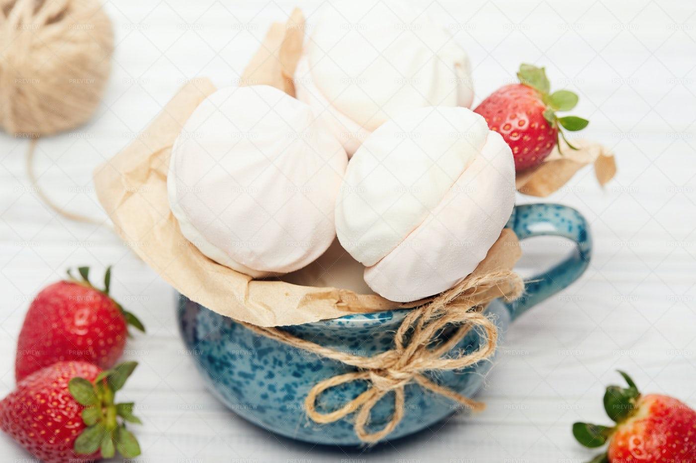 A Cup Of Marshmellow: Stock Photos