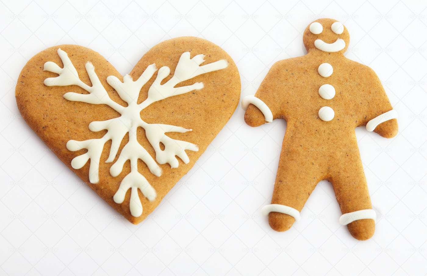 Two Gingerbread Cookies: Stock Photos