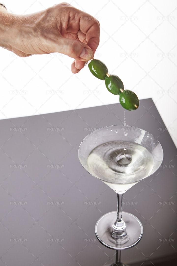 Serving A Martini: Stock Photos