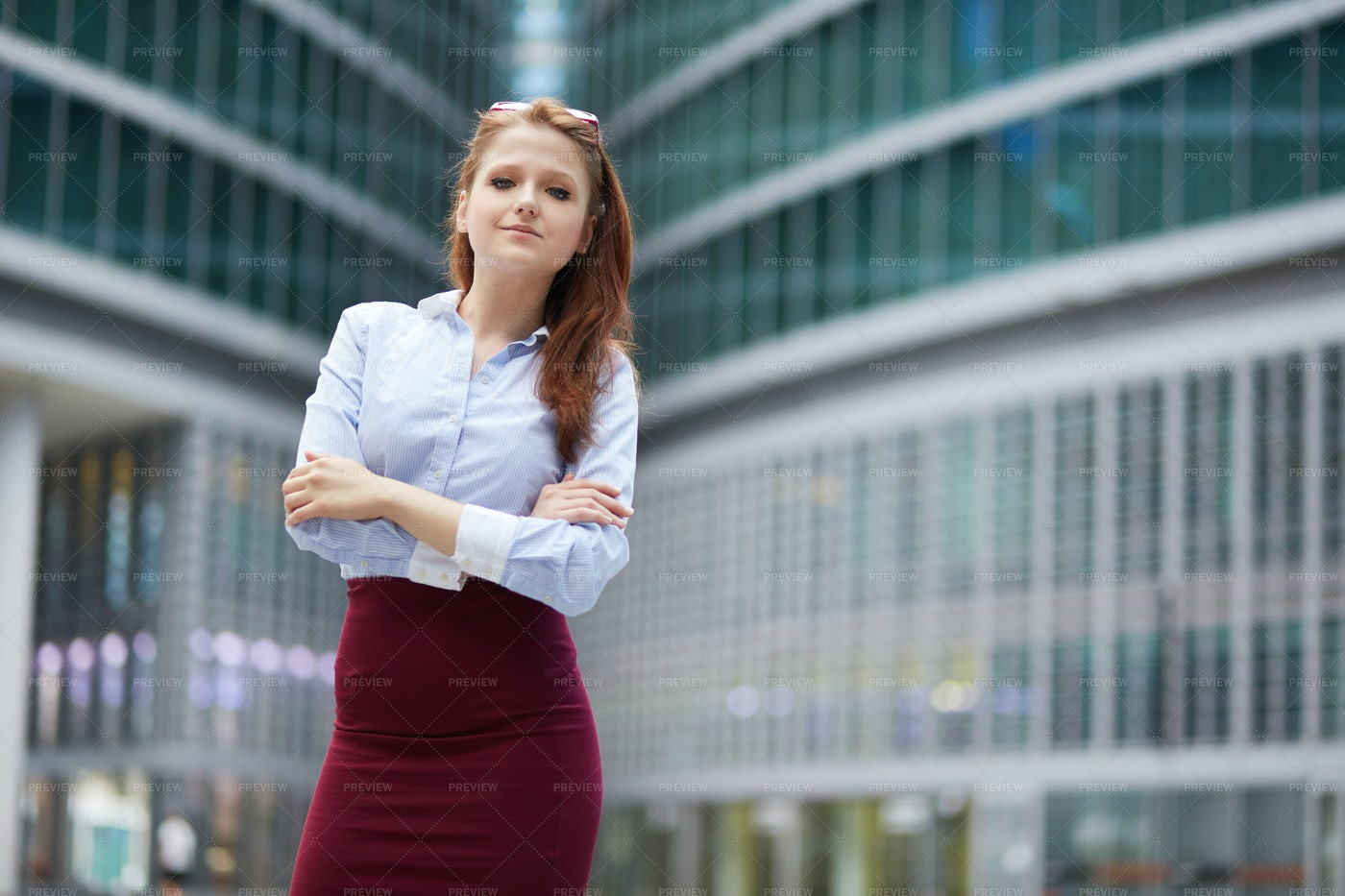 Red Haired Businesswoman: Stock Photos