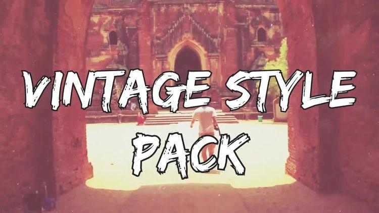 Vintage Style Pack: Premiere Pro Templates