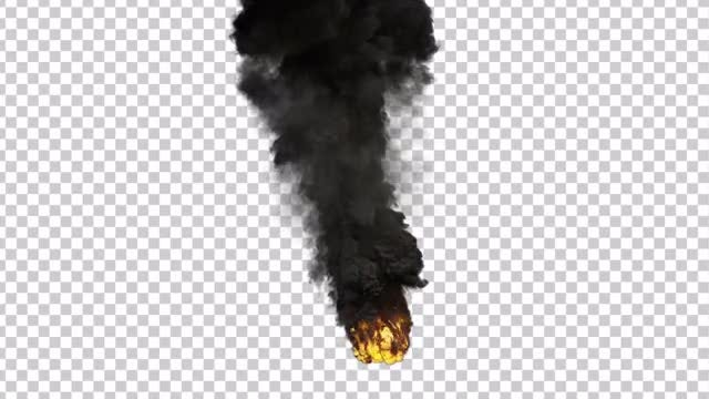 Large Scale Smoke And Fire: Stock Motion Graphics