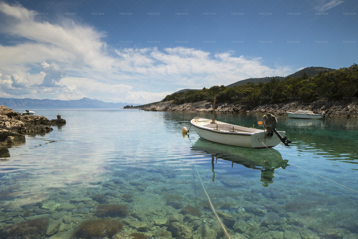 Boat In The Cove: Stock Photos