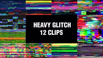 Heavy Glitch Backgrounds: Motion Graphics