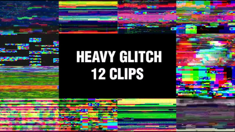 Heavy Glitch Backgrounds: Stock Motion Graphics