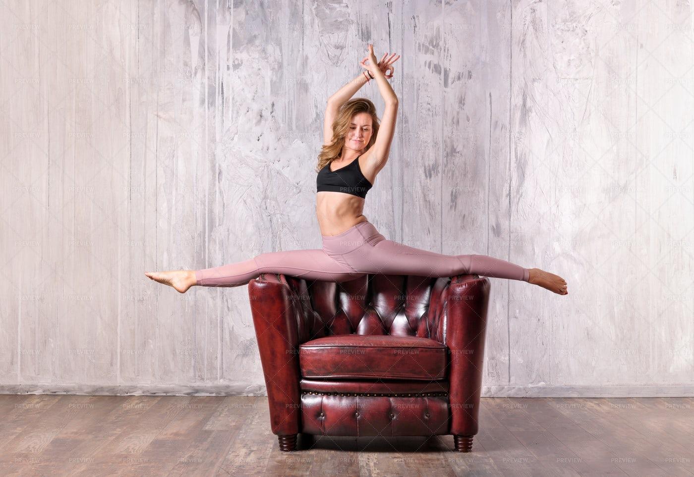 Woman Doing Yoga Pose: Stock Photos