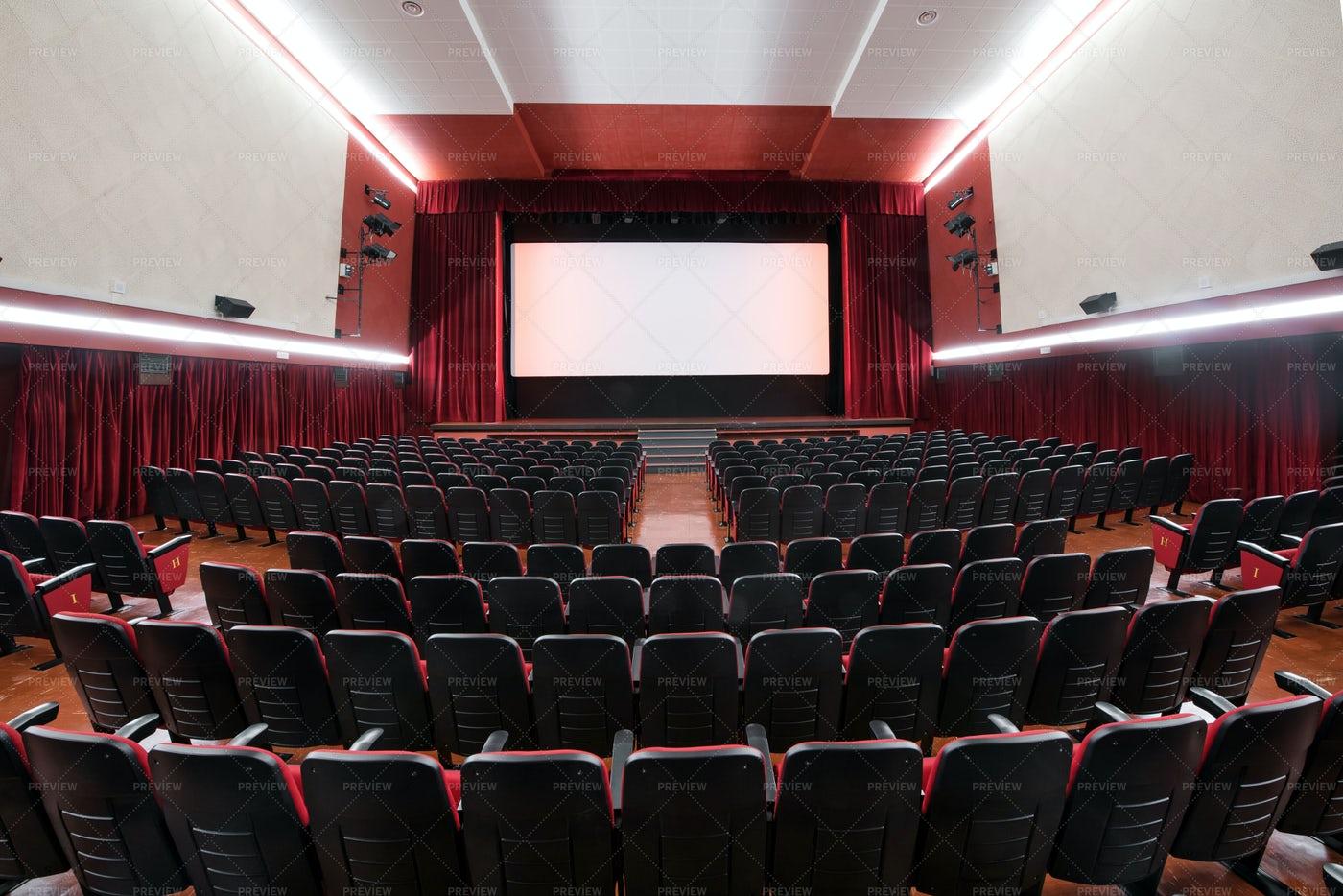 Interior Of A Movie Theatre: Stock Photos