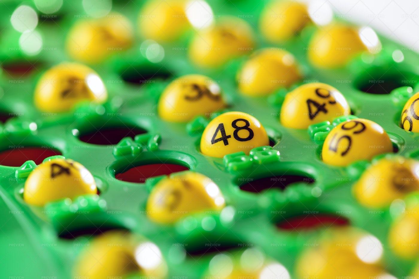 Yellow Bingo Balls: Stock Photos
