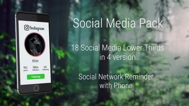 Social Media Pack: After Effects Templates