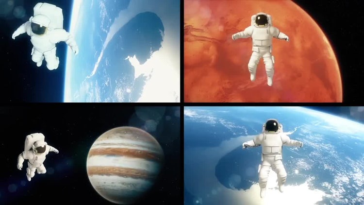 Astronaut: Stock Motion Graphics