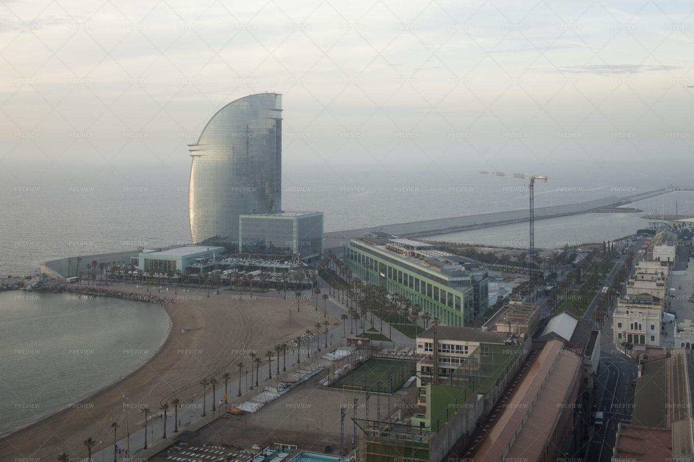 Barcelona Beach Tower: Stock Photos