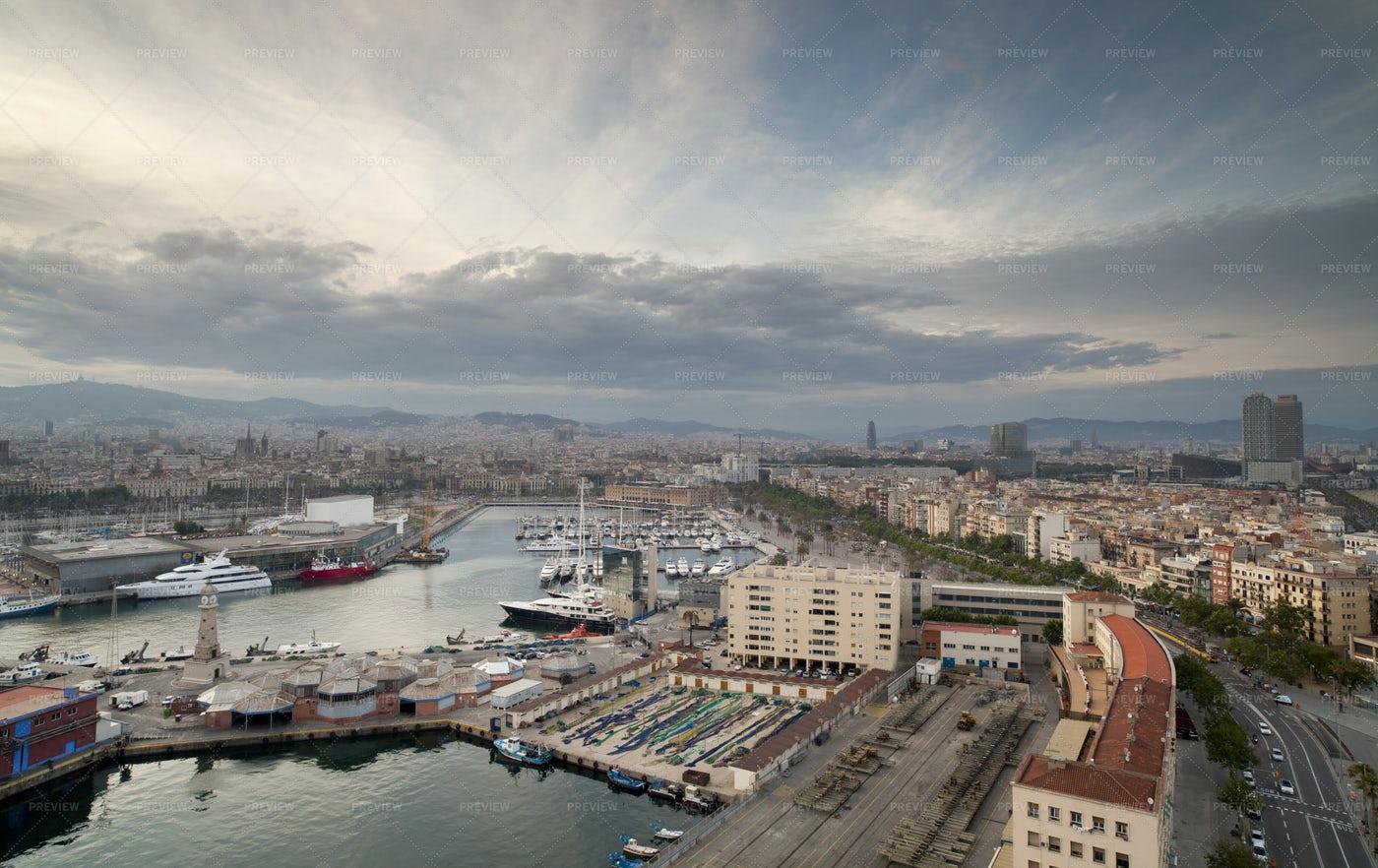 The Barcelona Skyline: Stock Photos