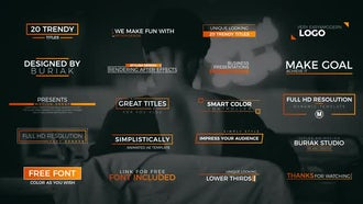 20 Trendy Titles: After Effects Templates