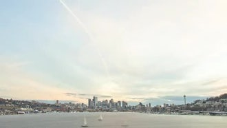 Seattle Sunset Time Lapse From Lake Union: Stock Video