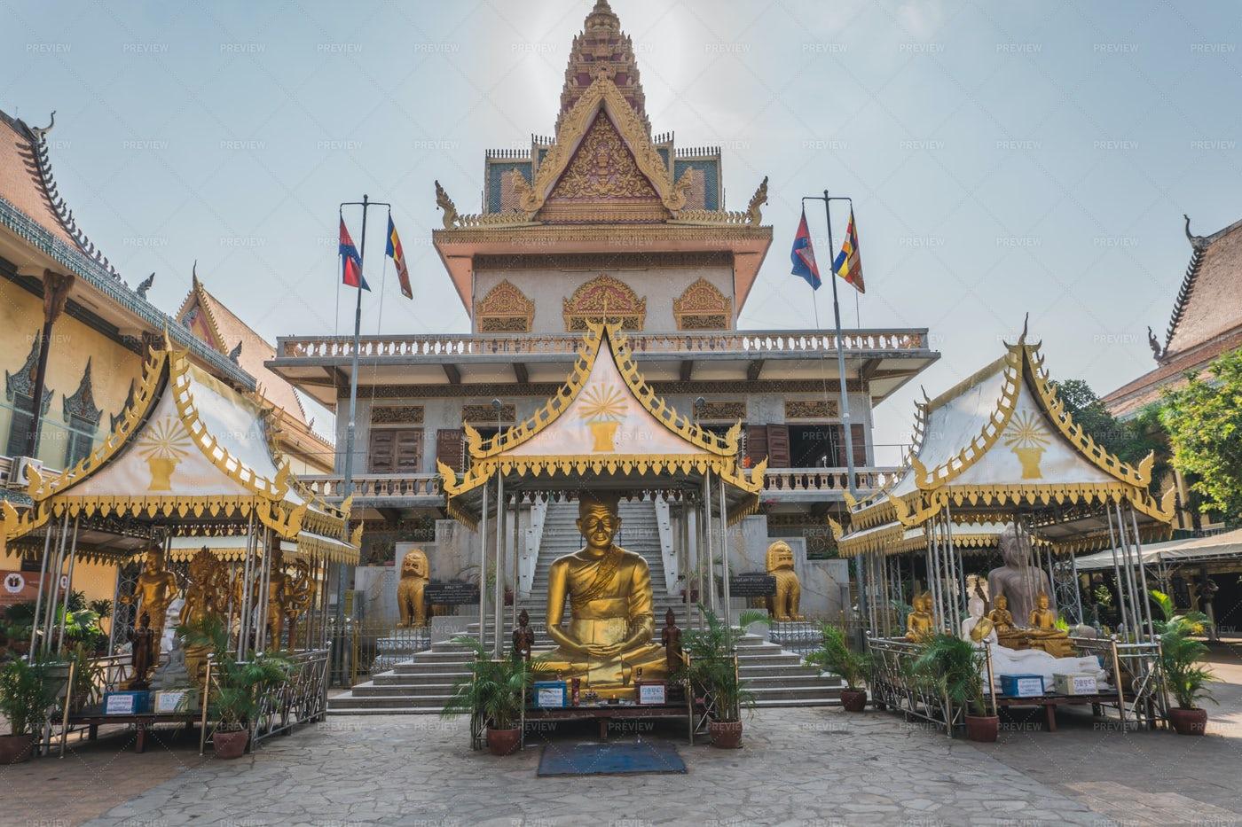 Temple In Phnom Penh: Stock Photos