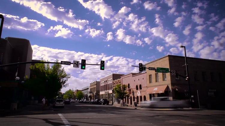Downtown Boise Street Time Lapse: Stock Video