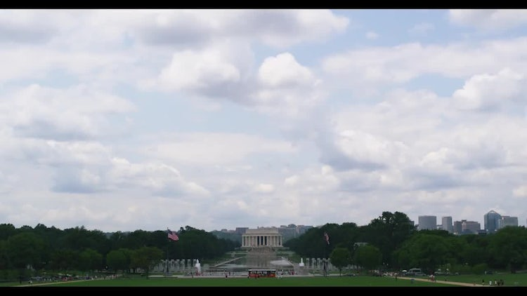 Lincoln Memorial Time Lapse With Rolling Clouds: Stock Video