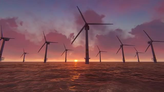 Offshore Wind Farm: Stock Motion Graphics