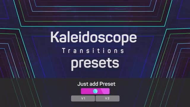 Kaleidoscope Transitions Presets: Premiere Pro Presets