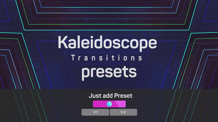 Kaleidoscope Transitions Presets: Premiere Pro Templates