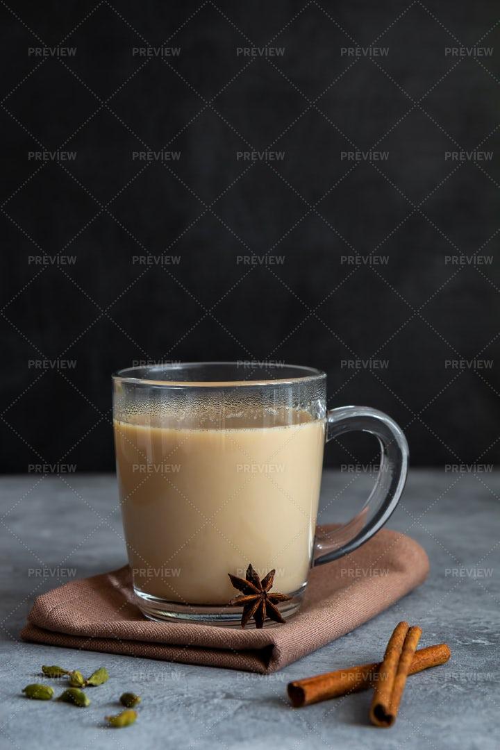 Chai Tea With Spices: Stock Photos
