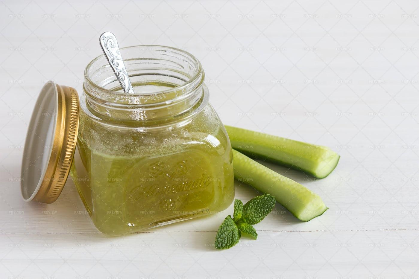Jar Of Cucumber Jam: Stock Photos