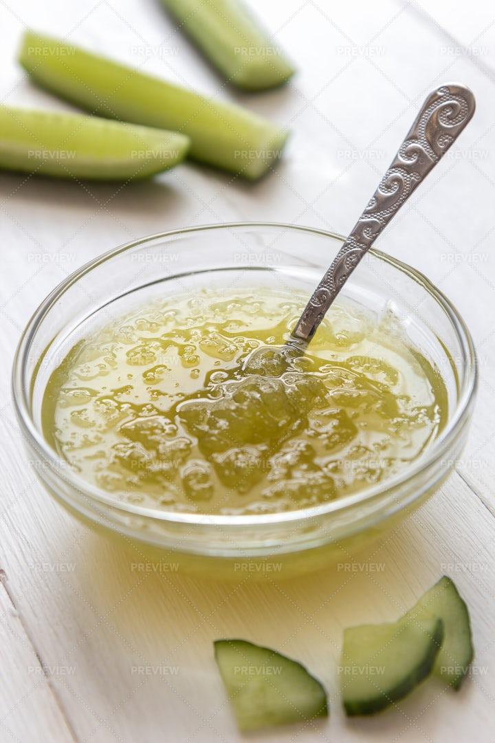 Cucumber Jam In A Bowl: Stock Photos