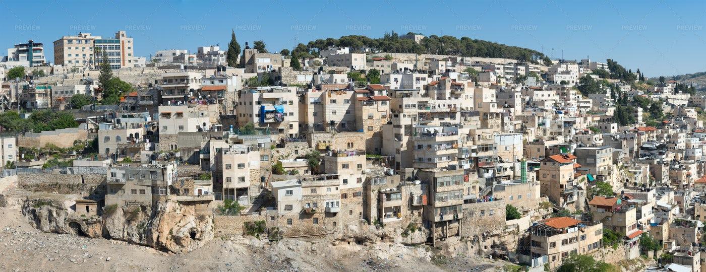 Neighborhood In Jerusalem: Stock Photos