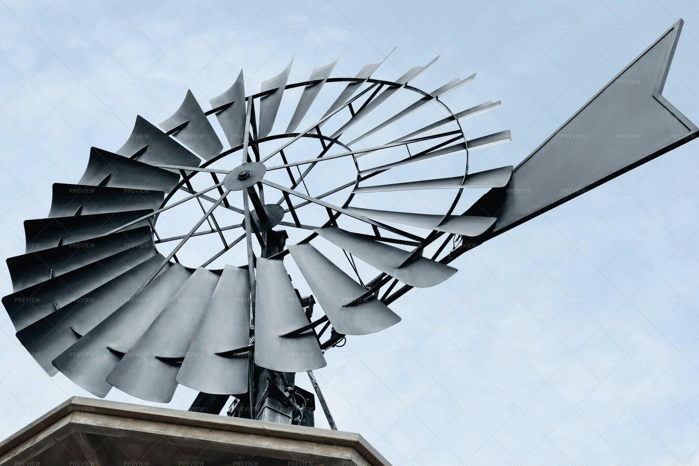 Water Pumping Windmill: Stock Photos