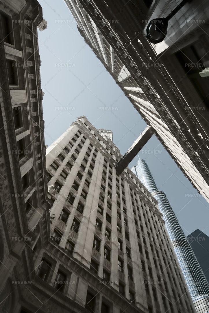 Wrigley And Trump Tower: Stock Photos