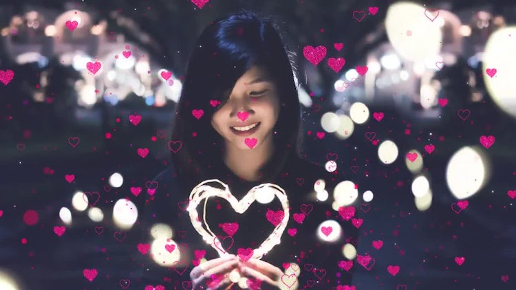 Hearts Overlay Pack : Motion Graphics