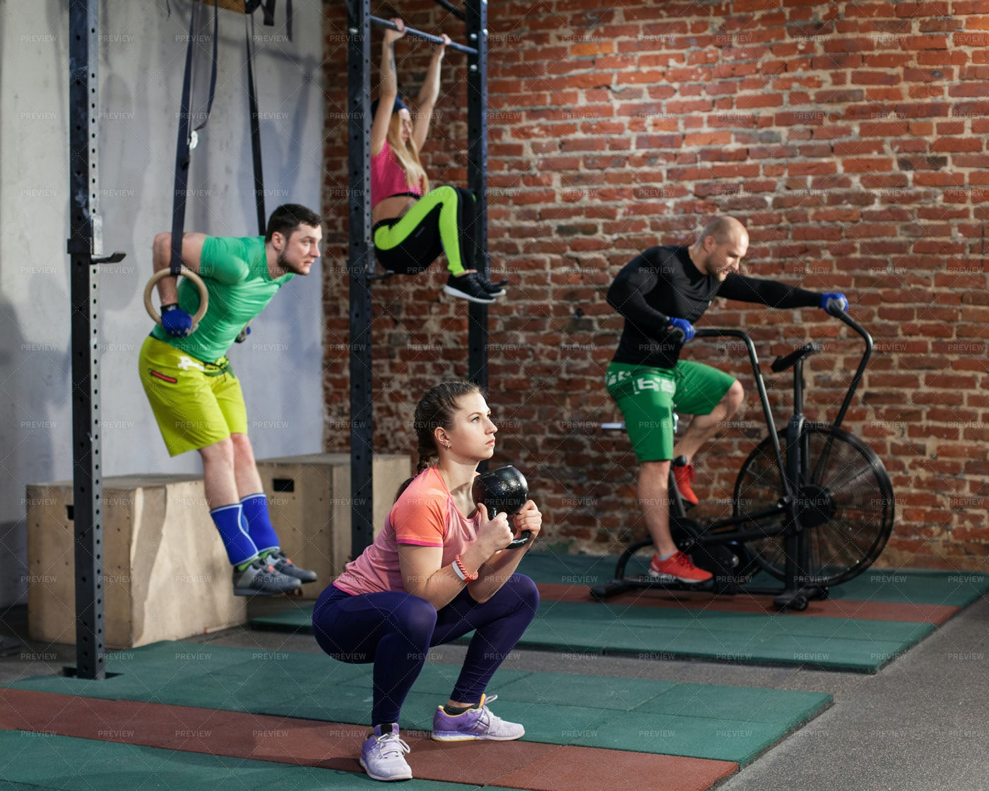 Training In A Group: Stock Photos