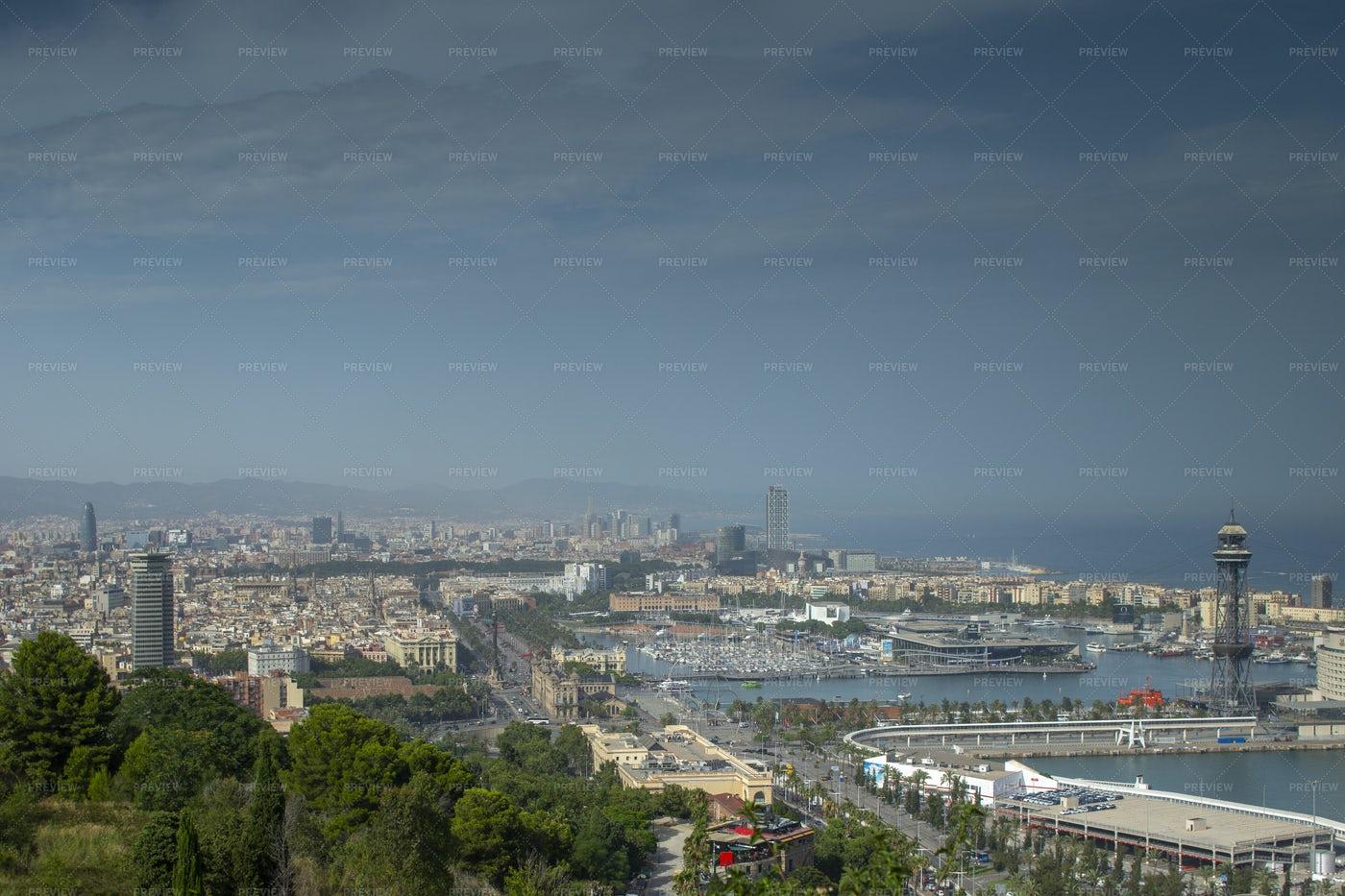 Barcelona Skyline: Stock Photos
