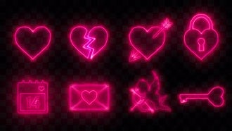 8 Valentine's Day Icons: Motion Graphics