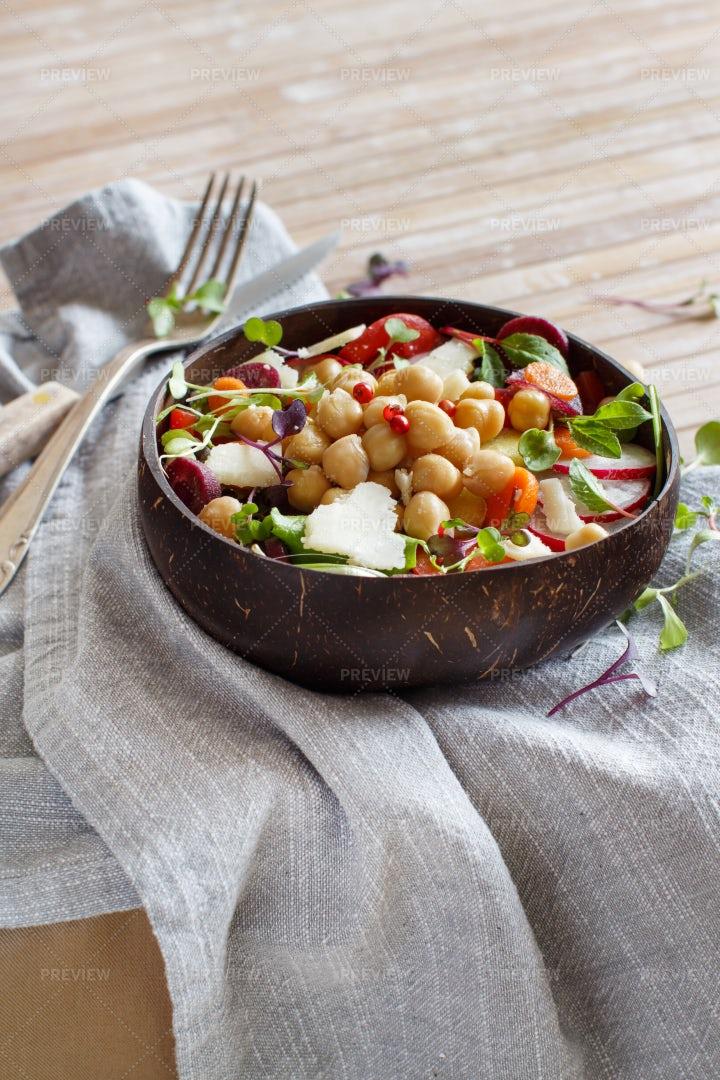 Chickpea Salad: Stock Photos