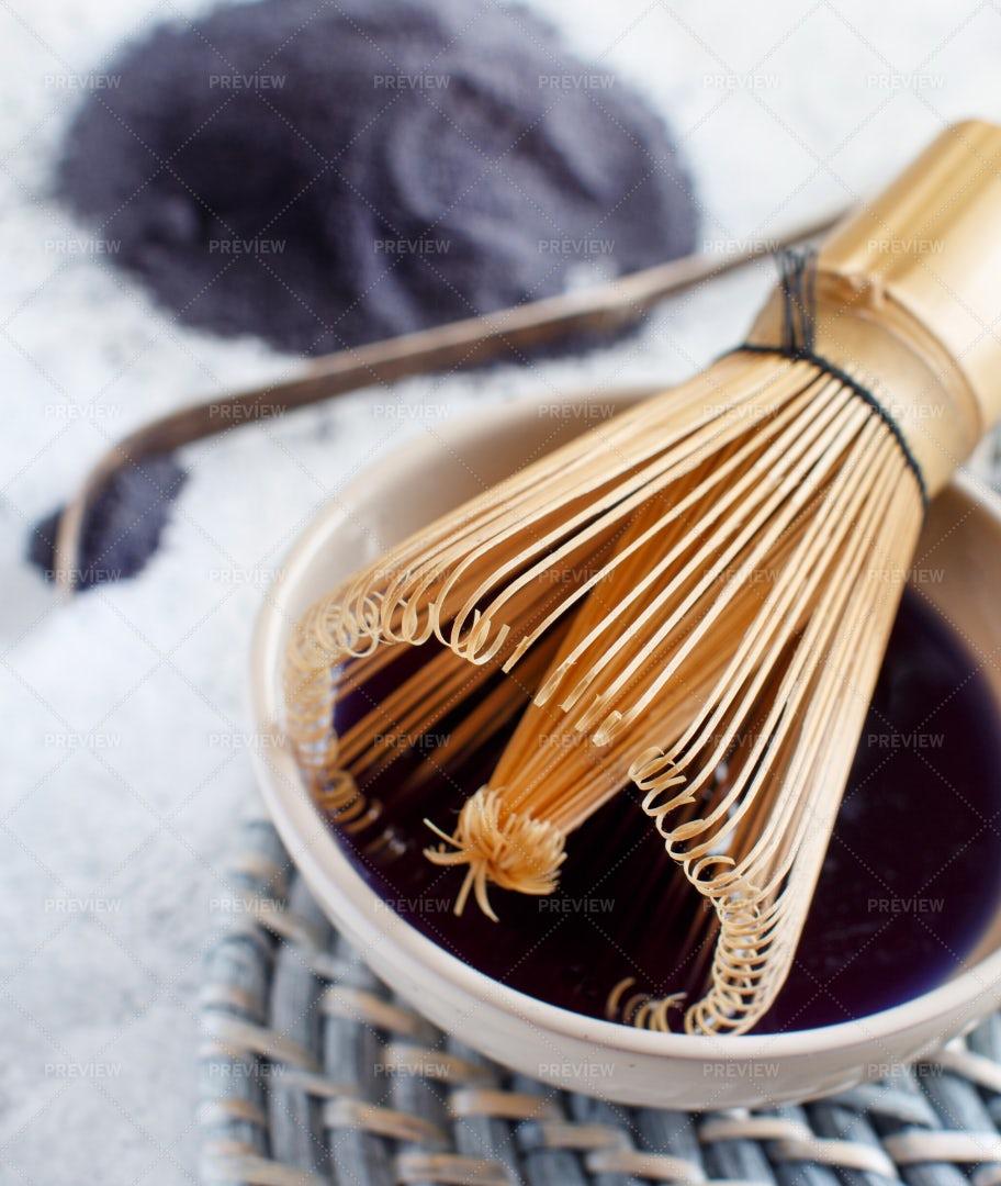 Blue Matcha Tea: Stock Photos