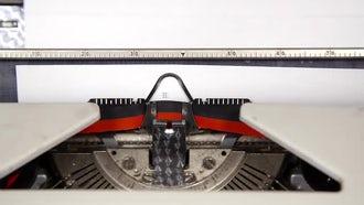 Typewriter  Headlines: Stock Video