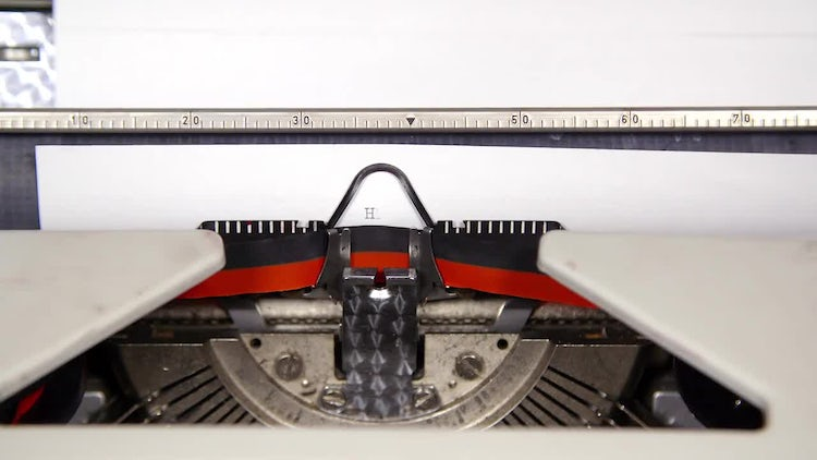 Typewriter  Headlines: Stock Video
