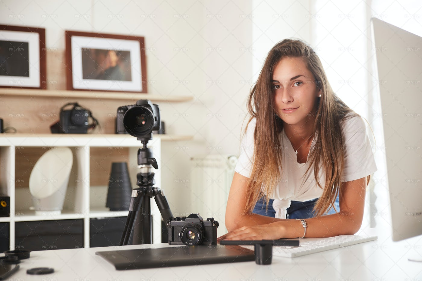 Young Professional Photographer: Stock Photos