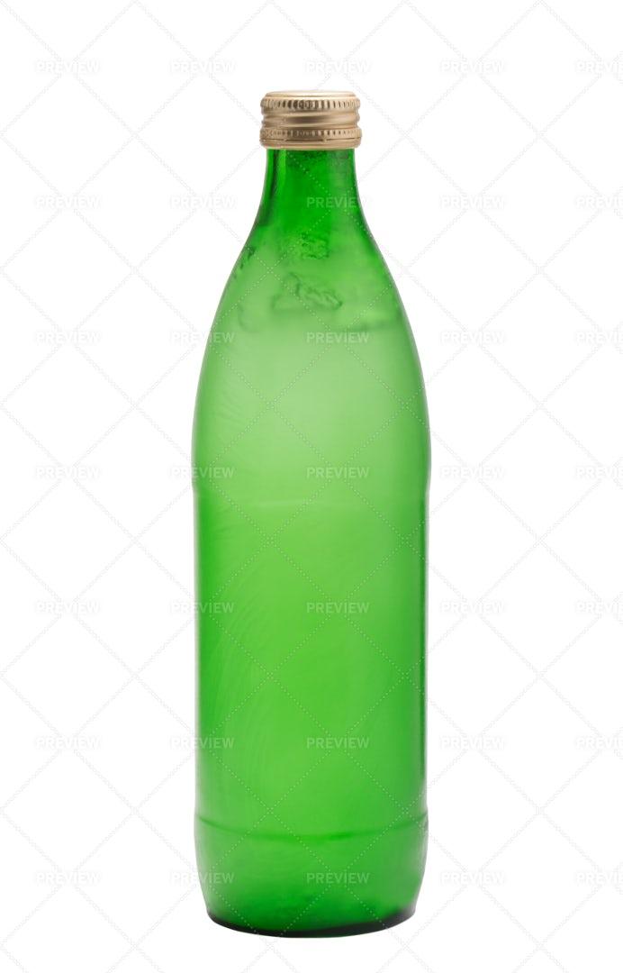 Green Glass Bottle: Stock Photos
