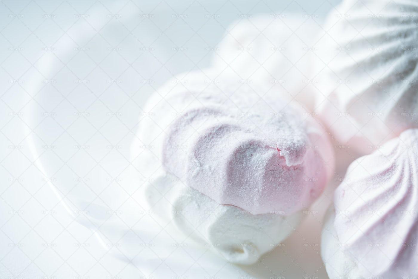White Macarons: Stock Photos