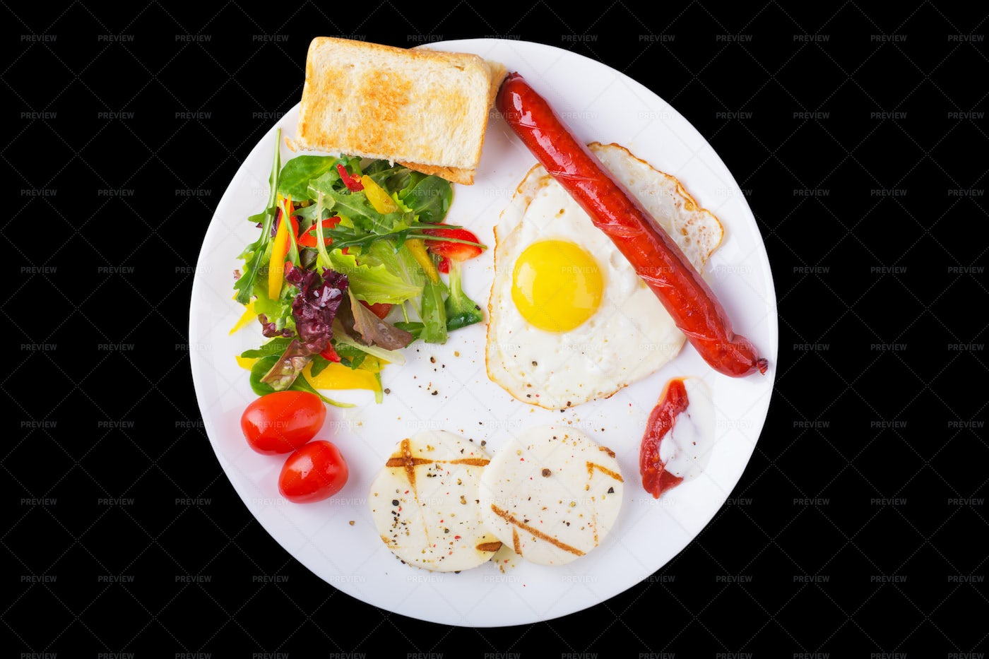 Colorful Breakfast Plate: Stock Photos
