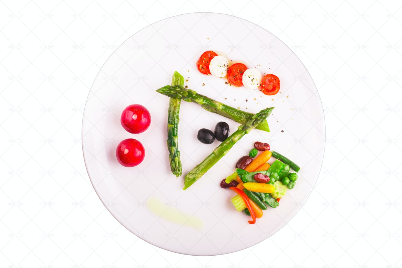 Vegetables Plate: Stock Photos