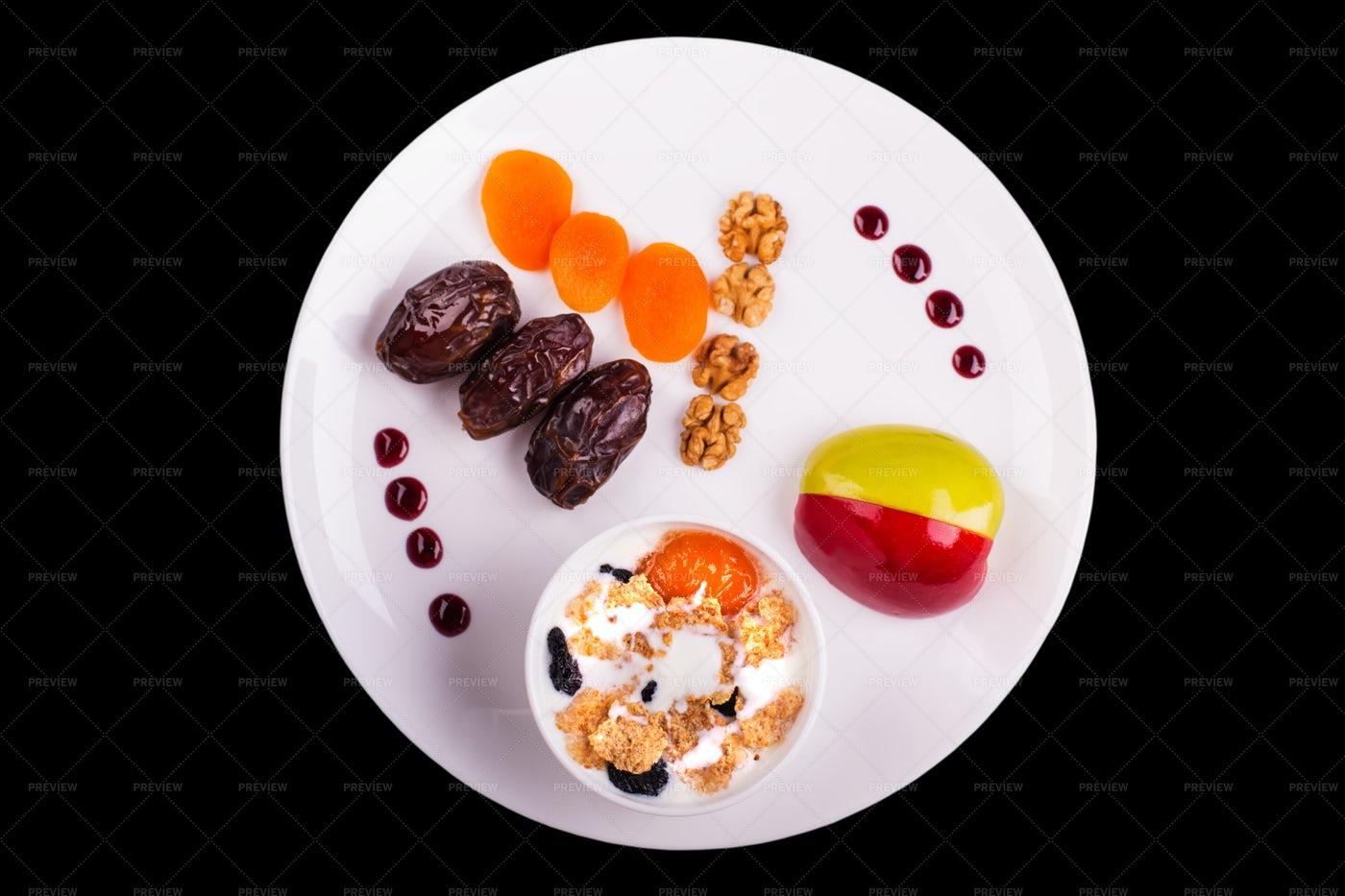 Healthy Breakfast Plate: Stock Photos
