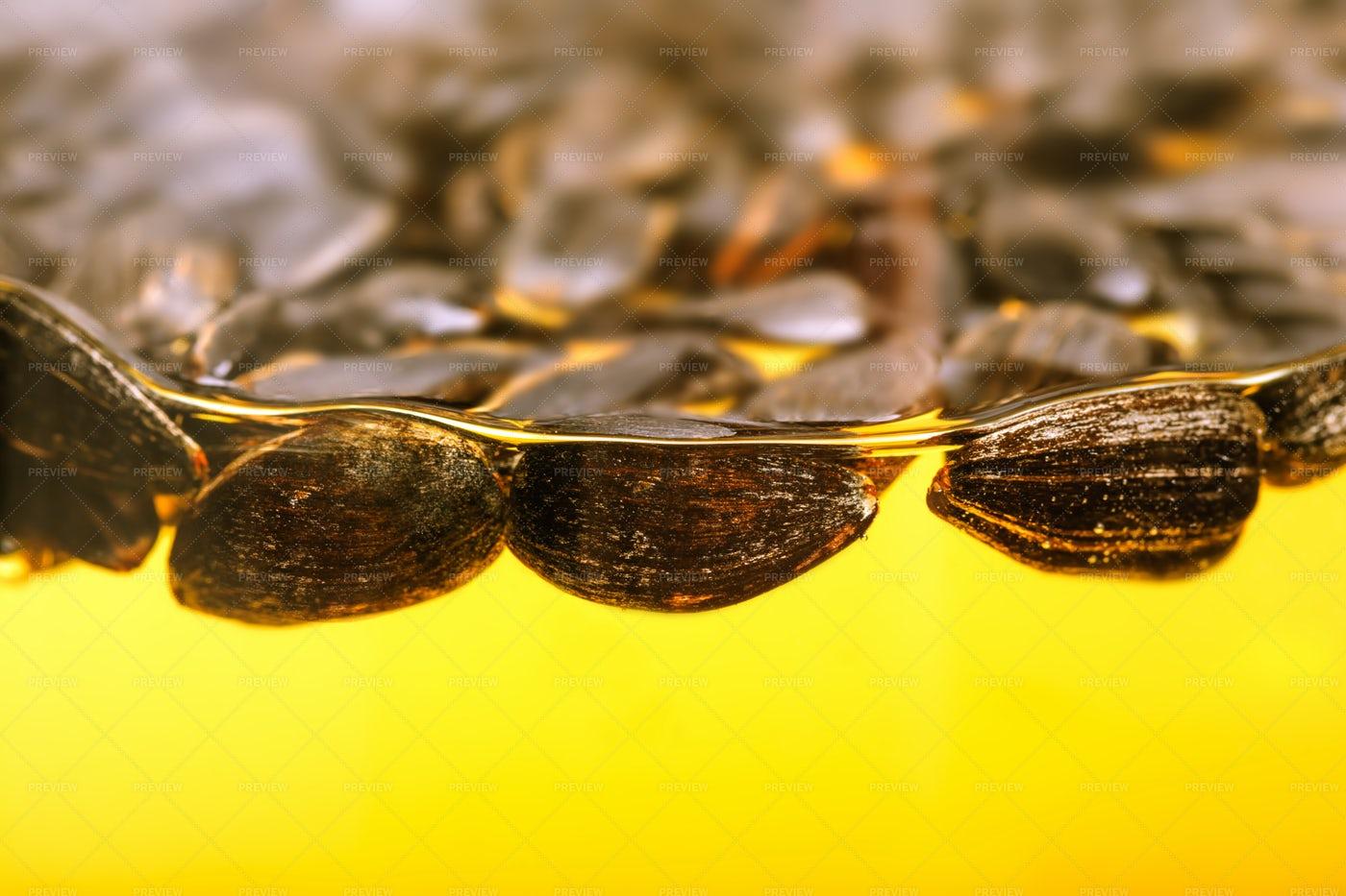 Sunflower Seeds In Oil: Stock Photos