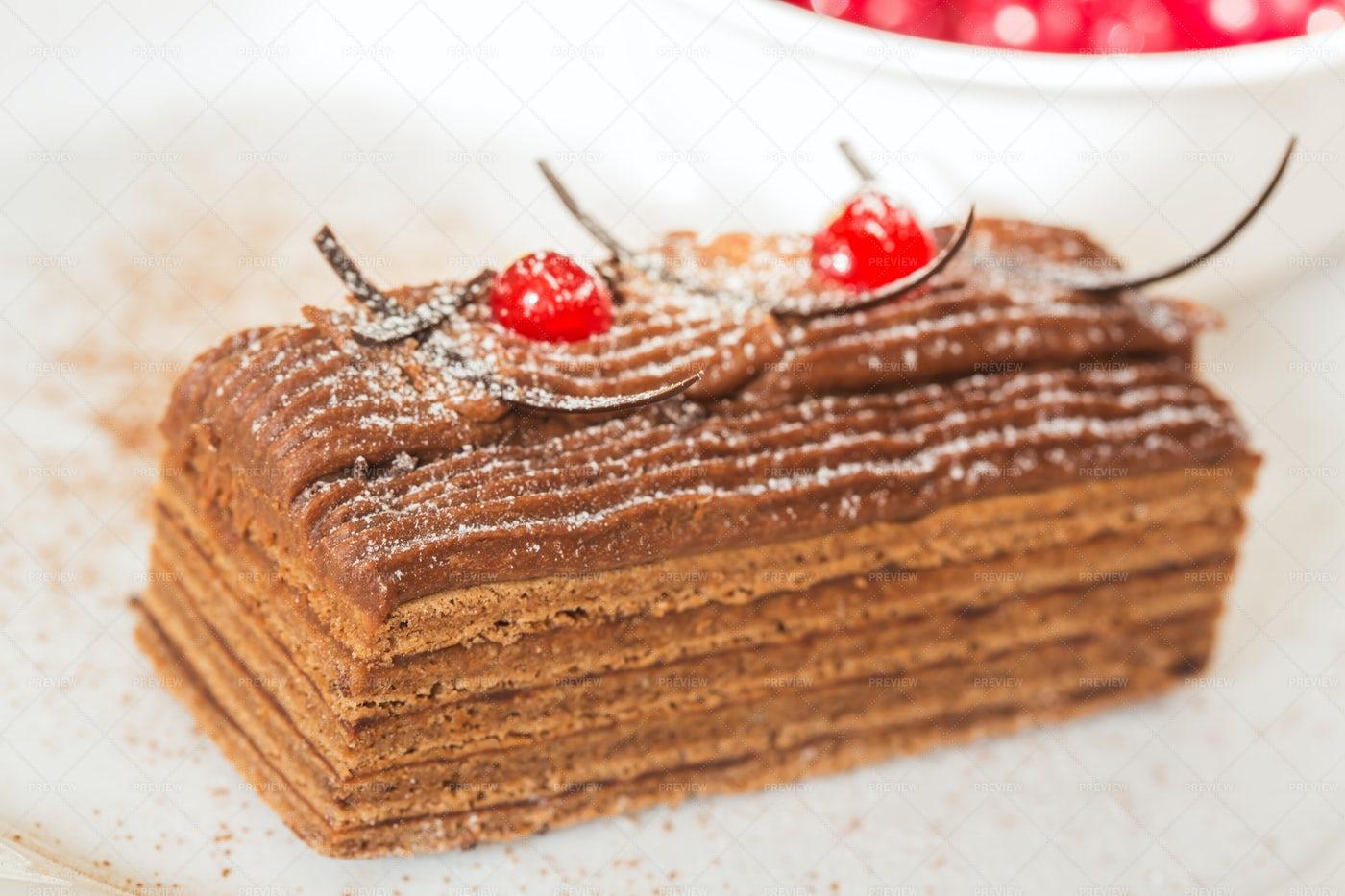 Honey Cake And Cranberries: Stock Photos