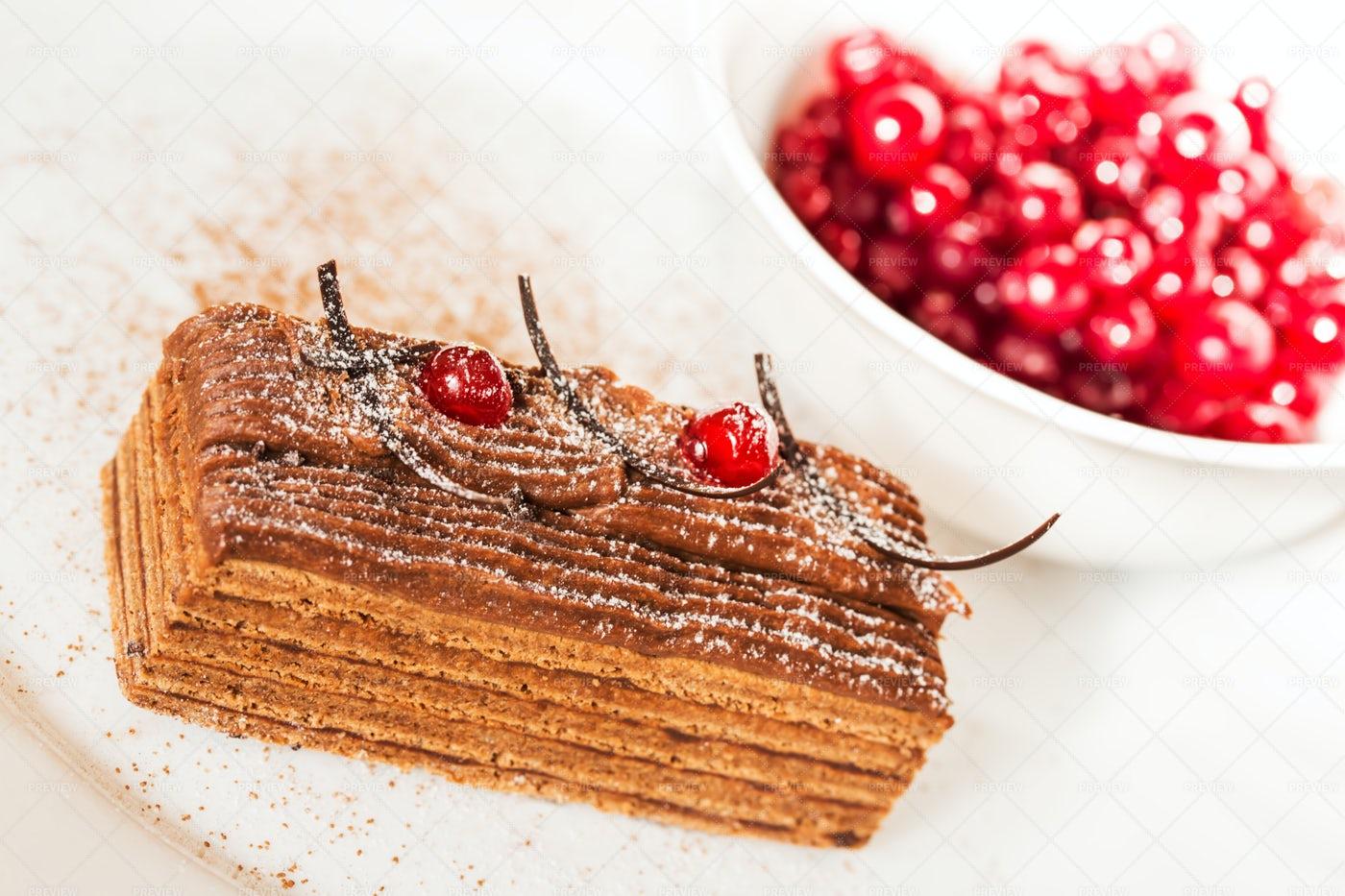 Piece Of Honey Cake: Stock Photos